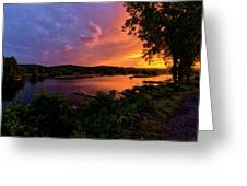 Marina Sunset Greeting Card