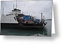 Marine City Mich Car Truck Ferry Greeting Card