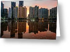 Marine City Sunset Greeting Card