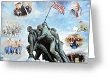 Marine Corps Art Academy Commemoration Oil Painting By Todd Krasovetz Greeting Card