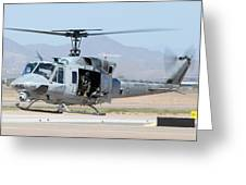 Marine Corps Bell Uh-1n Huey Buno 158559 Mesa Gateway Airport Arizona March 11 2011 Greeting Card