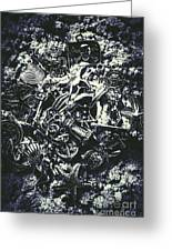 Marine Elemental Abstraction Greeting Card