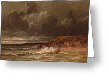 Marine Landscape The Cape And Dunes Of Saint Quentin 1870 Greeting Card
