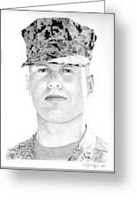 Marine Sgt Joseph Fankhauser  Greeting Card