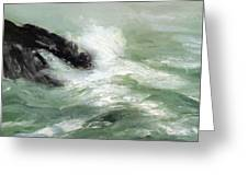Marine Storm Sea 1911 Greeting Card