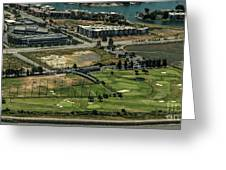Mariners Point Golf Center In Foster City, California Aerial Photo Greeting Card