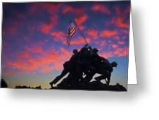 Marines At Dawn 2 Greeting Card