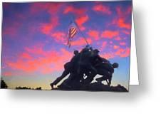 Marines At Dawn Greeting Card
