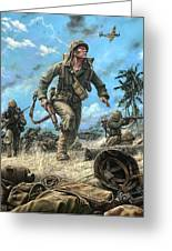 Marines In The Pacific Greeting Card