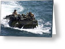 Marines Operate An Amphibious Assault Greeting Card