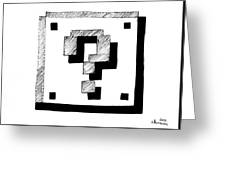 Mario Block Greeting Card