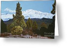 Marion Mountain In Winter Greeting Card