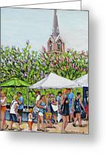 Marion Square Market Greeting Card