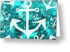 Maritime Anchor Art Greeting Card