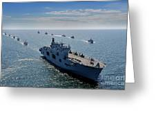 Maritime Forces From 17 Nations Greeting Card