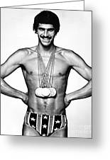 Mark Spitz (1950- ) Greeting Card by Granger