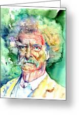 Mark Twain Watercolor Greeting Card