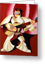 Mark Webster - It's Good To Be The King Greeting Card by Mark Webster
