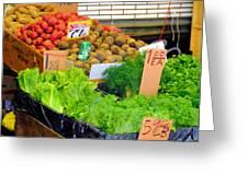 Market At Bensonhurst Brooklyn Ny 5 Greeting Card