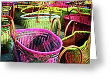 Market Baskets - Libourne Greeting Card