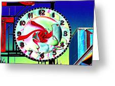 Market Clock 2 Greeting Card