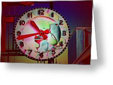 Market Clock 3 Greeting Card