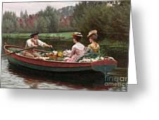 Market Day Greeting Card by Edmund Blair Leighton