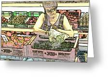 Market Greeting Card