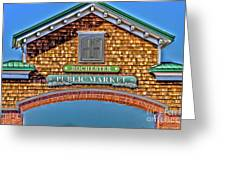 Market Entrance Greeting Card by William Norton