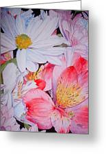 Market Flowers - Watercolor Greeting Card