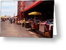 Market Georgetown Guyana Greeting Card