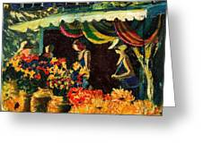Market In Provence Greeting Card