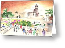 Market In Teguise In Lanzarote 02 Greeting Card
