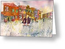Market Place In Borano Greeting Card