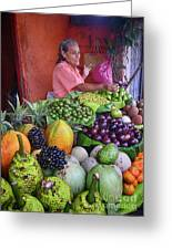 market stall in Nicaragua Greeting Card