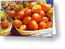 Market Tomatoes Greeting Card