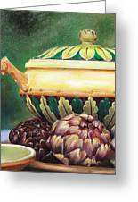 Market Tureen Greeting Card by Denise H Cooperman