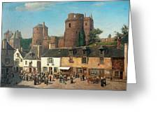 Marketplace In Vitre Greeting Card