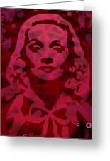Marlene In Red  Greeting Card