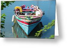 Marley Rowboat Rodney Bay Saint Lucia Greeting Card