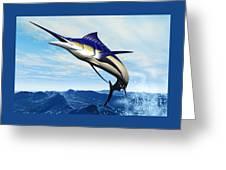 Marlin Jump Greeting Card by Corey Ford