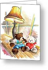 Marlon Blanco And Truffle Mcfurry In Whitby Greeting Card