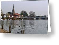 Marlow By The River Thames Greeting Card