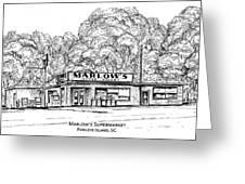 Marlows Market Greeting Card
