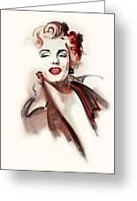 Marilyn Manroe Greeting Card