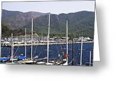 Marmaris Port Greeting Card