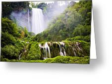 Marmore Waterfalls Italy Greeting Card