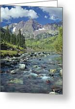 210404-maroon Bells And Creek  Greeting Card