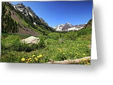 Maroon Bells In Summer 2 Greeting Card