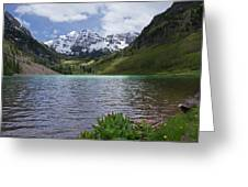 Maroon Bells Spring Greeting Card